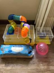 Gaiola Grande Hamster e Acessórios
