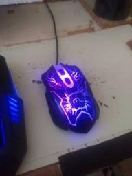 Vendo teclado e mouse gamer Multilaser