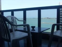 Flats mobiliados em Fortaleza com varanda e vista para o mar, apartamentos com um quarto