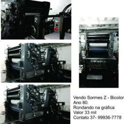 Offset heidelberg somes z bicolor impressora
