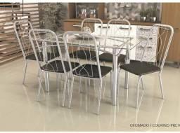 Mesa de jantar elba/ 6 cadeiras viena zap 062986423898 ou 062981952162