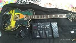 Guitarra Golden + Pedaleira Boss