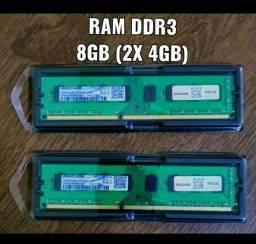 Memória Ram DDR3 8Gb (2 x 4Gb)