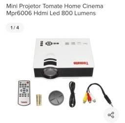 Data Show Mini Projetor Home Cinema Mpr6006 Hdmi Led 800 Lumens