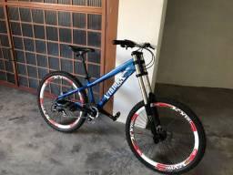 Bicicleta Downhill Vikingx suspensão RST R1