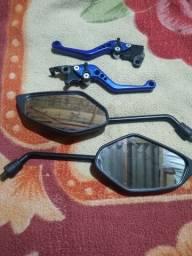 Manetes esportivos e espelhos