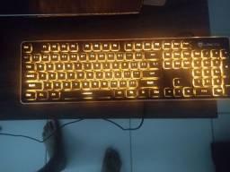 Teclado gamer Black Orange