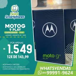 Motorola Moto G9 PLAY 64GB 4GB RAM CÂMERA TRASEIRA TRIPLAS 48MP LACRADO+NOTA FISCAL