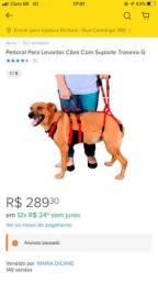 Peitoral e suporte traseiro cão (TAM G)