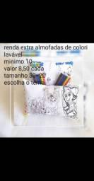 Renda extra almofadas de colori laváveis dia das crianças