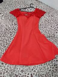 Lindo Vestido Vermelho Tamanho 38