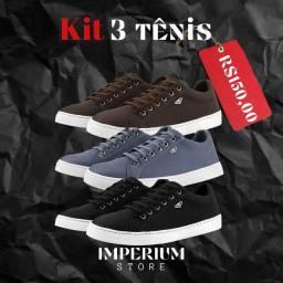 Kit com 3 tênis