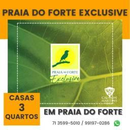 Título do anúncio: Praia do Forte Exclusive, casas com 3/4 em 136 m² Espetacular