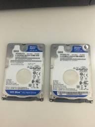 2 HDs de notebook 500gb