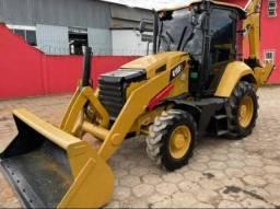 Título do anúncio: Retro escavadeira caterpillar 416F 2018 cabine fechada 4x4