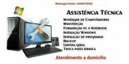 Título do anúncio: Formatação e manutenção de computadores e notebook
