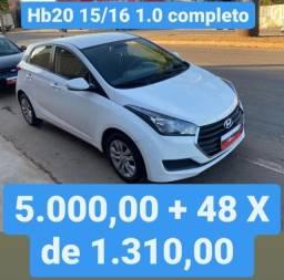 HB20 15/16 1.0 Completo 5.000,00 mais 48x de 1.310,00