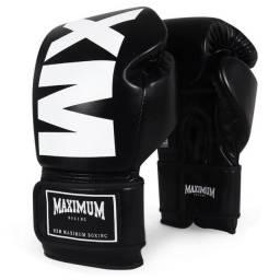 Título do anúncio: Par Luva MXM Black 10oz Maximum Boxe Muay Thai Kick Boxing