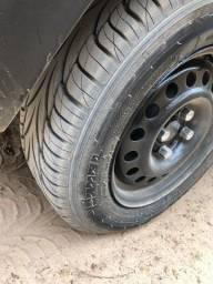 Título do anúncio: Aro 14  com 4 pneus novos