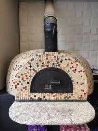 Título do anúncio: Forno de pizza a gás e lenha.