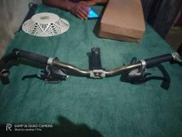 Guidão alumínio zoom ,mesa de alumínio 110mm, passador/manete (junto ou separadamente)