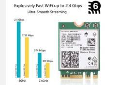 Ax210 m.2 ngff 2400mbps placa de rede Banda dupla wi-fi 6 2.4ghz/5gz