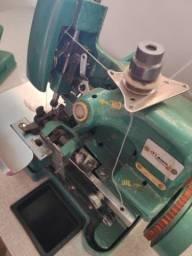 Máquina de costura Overlock + mesa 220v