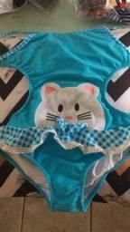 Maiô infantil gatinha