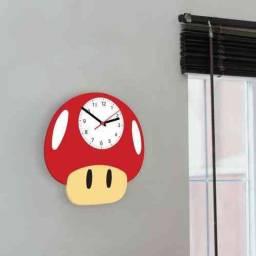 Receba Em Casa Hj Msmo Relógio Cogumelo Super Mario  Grow up Life Frete Gratis