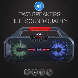 Título do anúncio: Entrega Grátis - Caixa de Som Bluetooth Usb 50w Cimk -Mk-8897