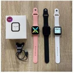 Título do anúncio: Smartwatch IWO X8  Preto Relógio Inteligente faz Ligações