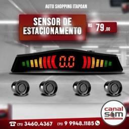 Título do anúncio: Sensor de Estacionamento com Display Padrão Fifa instalado na Canal Som