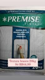 Título do anúncio: Queima de estoque! Textura acrílica branco 20kg Cuiabá tintas