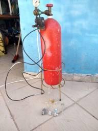 Cilindro CO2 aquário