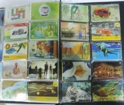 Título do anúncio: Lote de 330 cartões telefônicos variados com fichario organizador