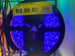 Título do anúncio: Temos fita led cor azul 5 metros por 50 reais o rolo