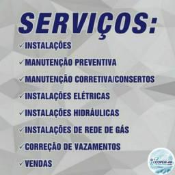 Título do anúncio: Prestação de serviços: instalação de ar condicionado e manutenções no geral