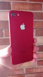 Título do anúncio: iPhone 7 128 GB Red impecável