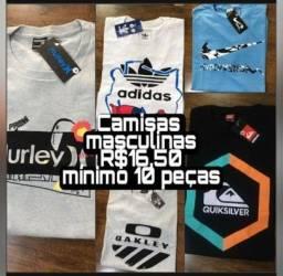 Camisetas masculinas fio 30.1  atacado barato