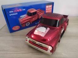 Caixa de som Bluetooth Camionete Vermelha - Muito boa