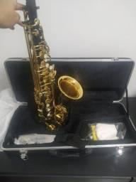 Sax alto custom premium Preto com Dourado