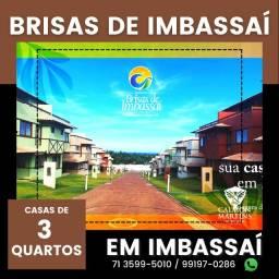 Título do anúncio: Casas Duplex 89m² no Brisas de Imbassaí, 3/4 com 1 suíte e 3 vagas - Lançamento