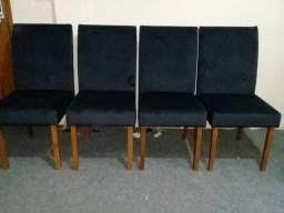 4 cadeiras pé de madeira