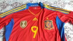 Camisa Espanha 2010 mangas longas #9 Torres (anúncio novo)