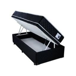 Cama box baú solteiro+ colchão de molas