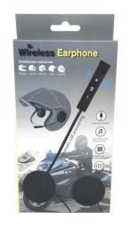 Fone Ouvido Para Capacete Moto Sem Fio Bluetooth Viva Voz Gps Músicas Novo na Caixa