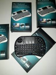 Mini Teclado e Mouse Touchpad Sem Fio