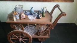Carrinho De Chá/ Bebidas, Antigo Em Madeira Nobre, Estiloso( Lindo presente)
