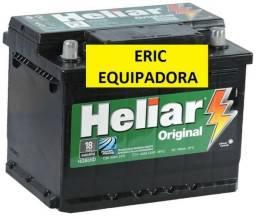Bateria Carro Heliar 60 amper - 18 Meses Garantia - Instalada