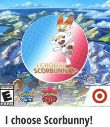 Scorbunny para Pokemon Sword and Shield